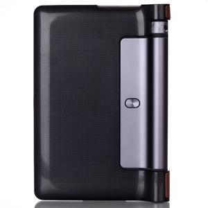 Polohovatelné PU kožené puzdro pre Lenovo Yoga Tab 3 8.0 - hnedé - 2