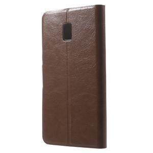 Horse peňaženkové puzdro pre Lenovo Vibe P1 - hnedé - 2