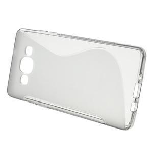 Gélové s-line puzdro pre Samsung Galaxy A3    - šedá - 2