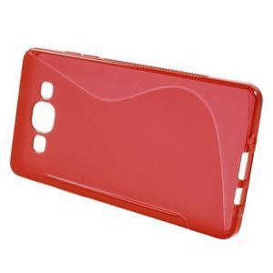 Gélové s-line puzdro na Samsung Galaxy A3 - červená - 2