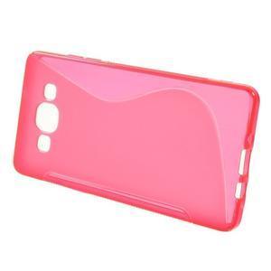Gélové s-line puzdro na Samsung Galaxy A3 - ružová - 2