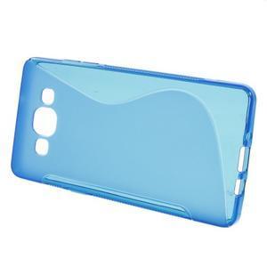Gélové s-line puzdro pre Samsung Galaxy A3    - modrá - 2