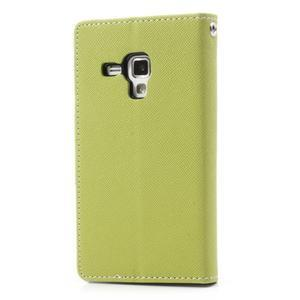 Diary puzdro na mobil Samsung Galaxy S Duos / Trend Plus - zelené - 2