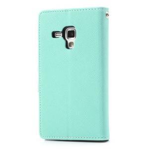 Diary puzdro na mobil Samsung Galaxy S Duos / Trend Plus - azurové - 2