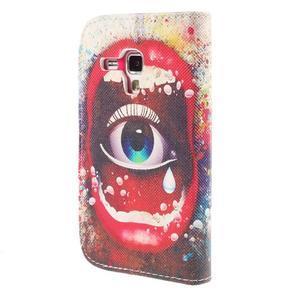 Peňaženkové puzdro pre Samsung Galaxy S Duos / Trend Plus - oko - 2