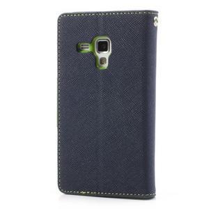 Diary puzdro na mobil Samsung Galaxy S Duos / Trend Plus - tmavomodré - 2