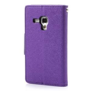 Diary puzdro na mobil Samsung Galaxy S Duos / Trend Plus - fialové - 2