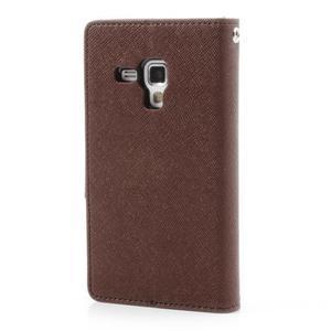 Diary puzdro na mobil Samsung Galaxy S Duos / Trend Plus - hnedé/čierne - 2
