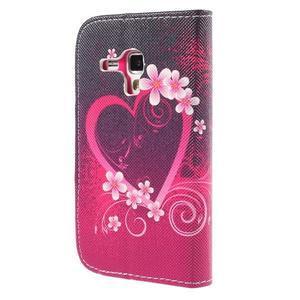 Peňaženkové puzdro pre Samsung Galaxy S Duos / Trend Plus -  srdce - 2