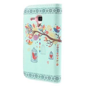 Peňaženkové puzdro pre Samsung Galaxy S Duos / Trend Plus - vtáčik v klietke - 2