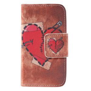 Peňaženkové puzdro pre Samsung Galaxy S Duos / Trend Plus - zlomené srdce - 2