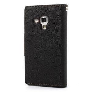 Diary puzdro pre mobil Samsung Galaxy S Duos / Trend Plus - čierne/hnedé - 2