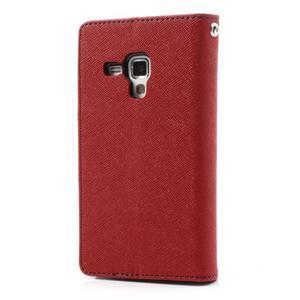 Diary puzdro pre mobil Samsung Galaxy S Duos / Trend Plus -  červené - 2