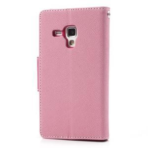 Diary puzdro na mobil Samsung Galaxy S Duos / Trend Plus - růžové - 2