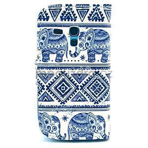 Peňaženkové púzdro na Samsung Galaxy S3 mini - slony - 2