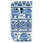 Peňaženkové púzdro na Samsung Galaxy S3 mini - slony - 2/6
