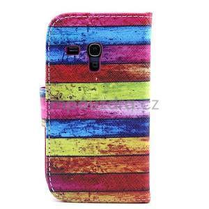 Peňaženkové puzdro na Samsung Galaxy S3 mini - farby dreva - 2