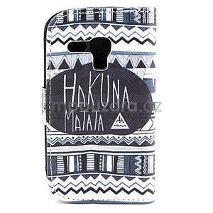Peňaženkové puzdro na Samsung Galaxy S3 mini - Hakuna - 2