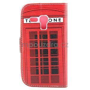Peňaženkové puzdro na Samsung Galaxy S3 mini - telefónna búdka - 2
