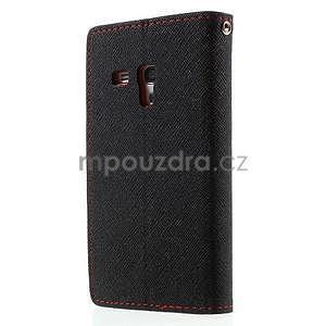 Diary peňaženkové puzdro na mobil Samsung Galaxy S3 mini - čierne/ červené - 2