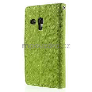 Diary peňaženkové puzdro na mobil Samsung Galaxy S3 mini - zelené/tmavomodré - 2