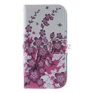 Peňaženkové puzdro pre Samsung Galaxy S4 mini - kvetúca vetvička - 2