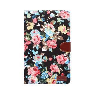 Květinové puzdro na tablet Samsung Galaxy Tab A 10.1 (2016) - čierné - 2