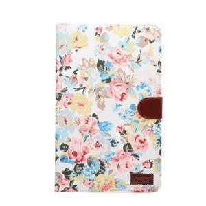 Květinové puzdro na tablet Samsung Galaxy Tab A 10.1 (2016) - bielé - 2