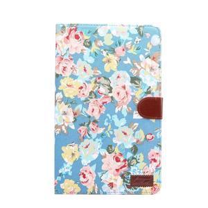 Kvetinové puzdro pre tablet Samsung Galaxy Tab A 10.1 (2016) - modré - 2