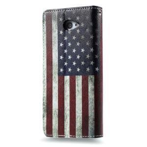Peňaženkové puzdro na mobil Sony Xperia M2 - US vlajka - 2