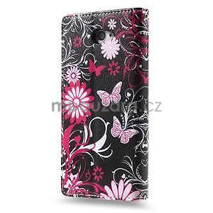 Peňaženkové puzdro pre mobil Sony Xperia M2 - motýľe - 2