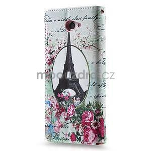 Peňaženkové puzdro na mobil Sony Xperia M2 - Eifellova veža - 2