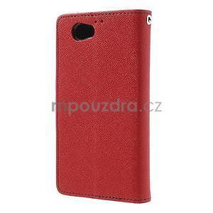 Fancy peňaženkové puzdro na Sony Xperia Z1 Compact - červené - 2