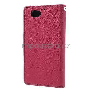 Fancy peňaženkové puzdro pre Sony Xperia Z1 Compact - rose - 2
