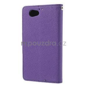 Fancy peňaženkové puzdro na Sony Xperia Z1 Compact - fialové - 2