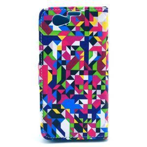 Puzdro pre mobil Sony Xperia Z1 Compact - geometrické tvary - 2