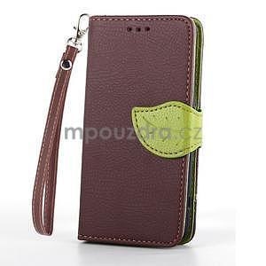 Leaf peněženkové pouzdro na Sony Xperia Z3 Compact - hnědé - 2