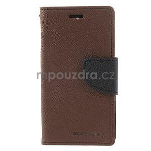 Diary Peňaženkové puzdro pre mobil Sony Xperia Z3 Compact - hnedé - 2