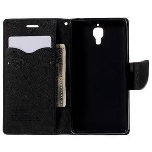 Kožené puzdro na Xiaomi Mi4 - čierné - 2