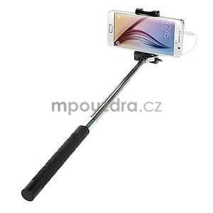 Selfie tyč s automatickým spínačem na rukojeti - čierná - 2