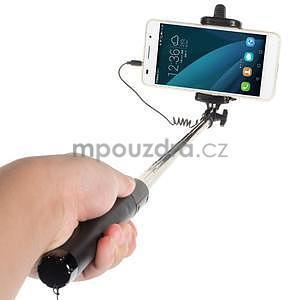 GX automatická selfie tyč so spínačom - čierná - 2