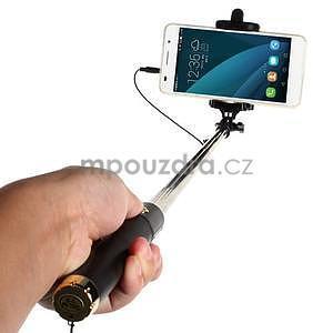 GX automatická selfie tyč so spínačom - zlatá - 2