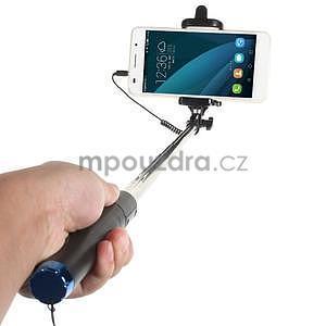 GX automatická selfie tyč se spínačem - modrá - 2
