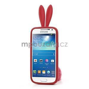 Silikonový obal na Samsung Galaxy S4 mini - červený králík - 2
