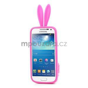 Silikonový obal na Samsung Galaxy S4 mini - rose králík - 2