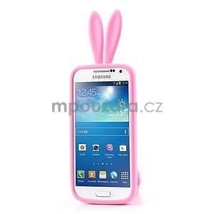 Silikonový obal na Samsung Galaxy S4 mini - růžový králík - 2