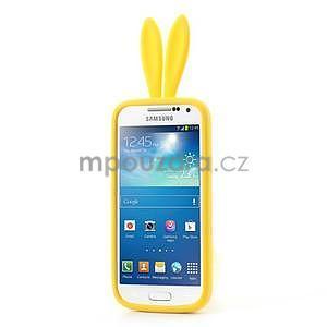 Silikonový obal na Samsung Galaxy S4 mini - žltý králík - 2