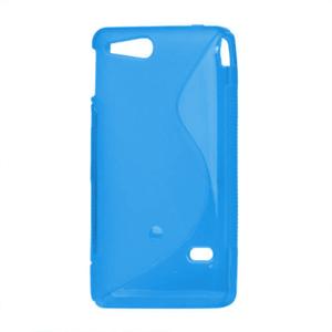 Gélové S-line puzdro na Sony Xperia Go- modré - 2