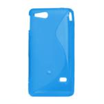 Gélové S-line puzdro na Sony Xperia Go- modré - 2/3