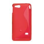 Gélové S-line puzdro na Sony Xperia Go- červené - 2/3